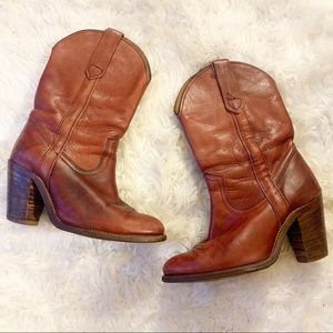 Frye Leather Cowgirl Cowboy Boots Size 6.5